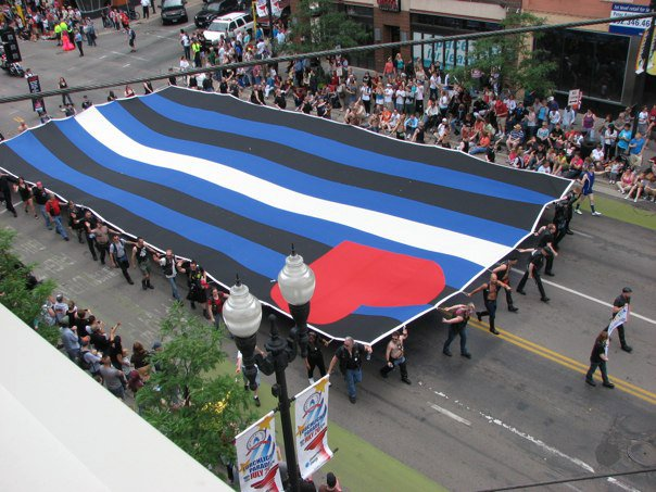 Flag from above